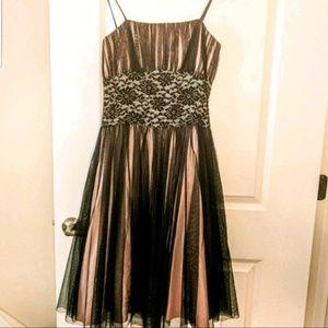 FINAL PRICE! Dreamy Black & Pink Empire Waist gown